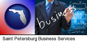 typical business services and concepts in Saint Petersburg, FL
