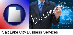 Salt Lake City, Utah - typical business services and concepts