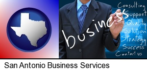 typical business services and concepts in San Antonio, TX