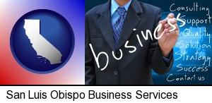 San Luis Obispo, California - typical business services and concepts