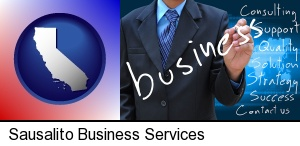 typical business services and concepts in Sausalito, CA
