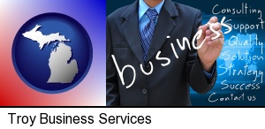 Troy, Michigan - typical business services and concepts