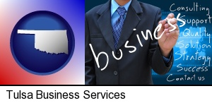 Tulsa, Oklahoma - typical business services and concepts