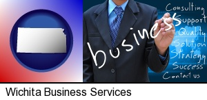 Wichita, Kansas - typical business services and concepts